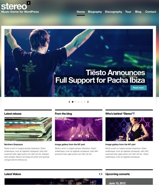CSSIgniter StereoSquared Responsive Music Theme For WordPress