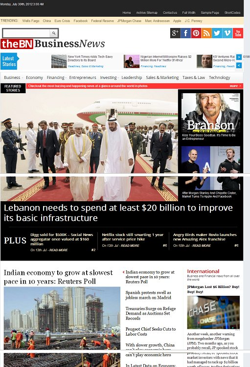 Magazine3 TheBusinessNews WordPress Magazine Theme