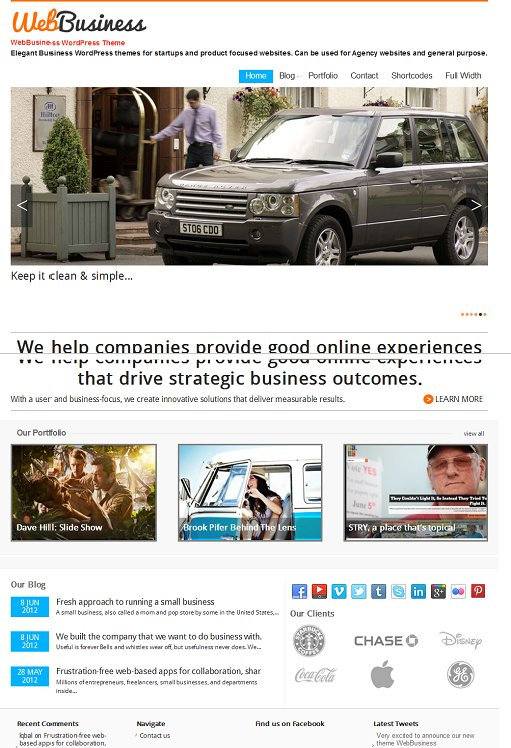 Magazine3 WebBusiness WordPress Business Portfolio Theme