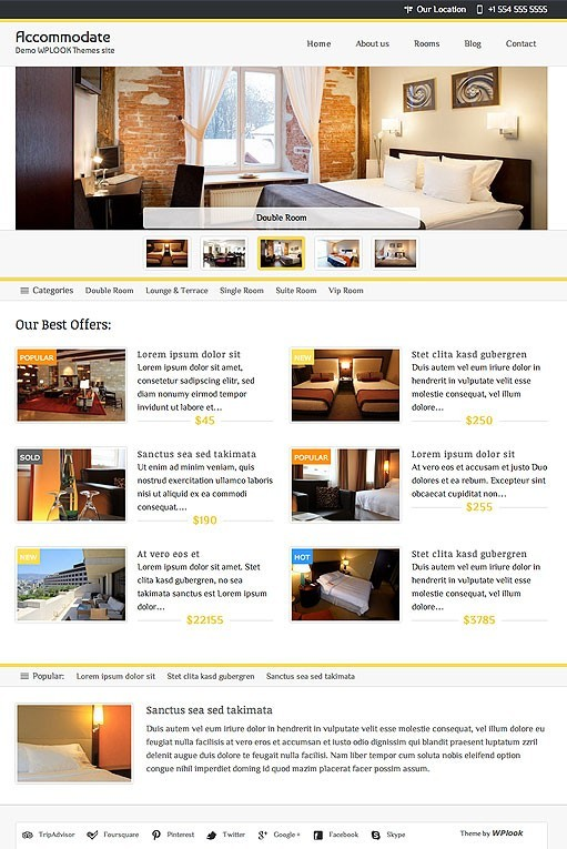 WPLook Accommodate Responsive Hotel WordPress Theme