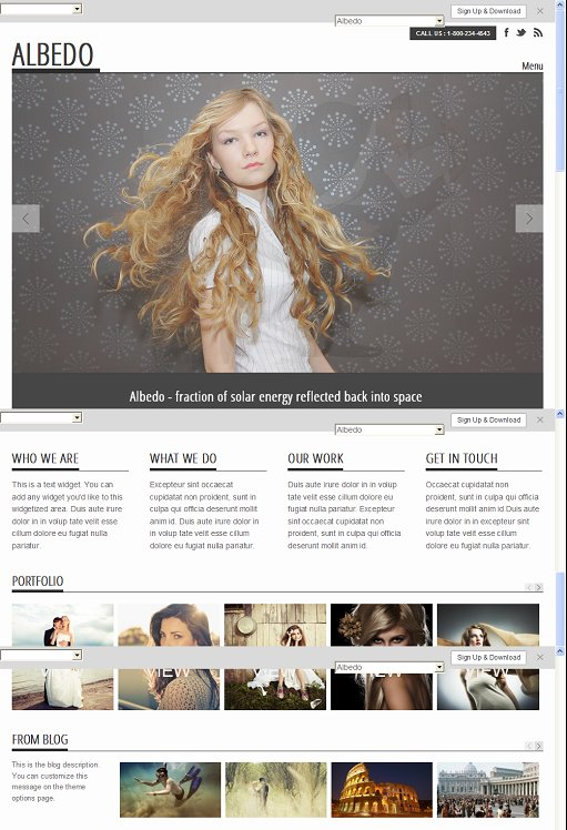 Graph Paper Press Albedo WordPress Theme