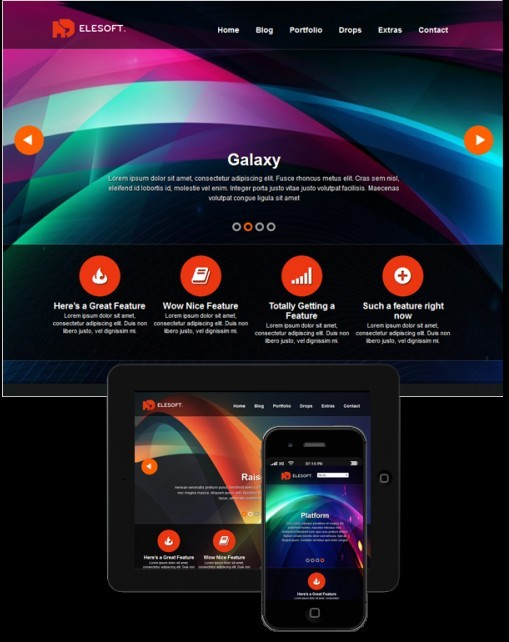 ThemeFurnace Elesoft Responsive Showcase Theme For WordPress