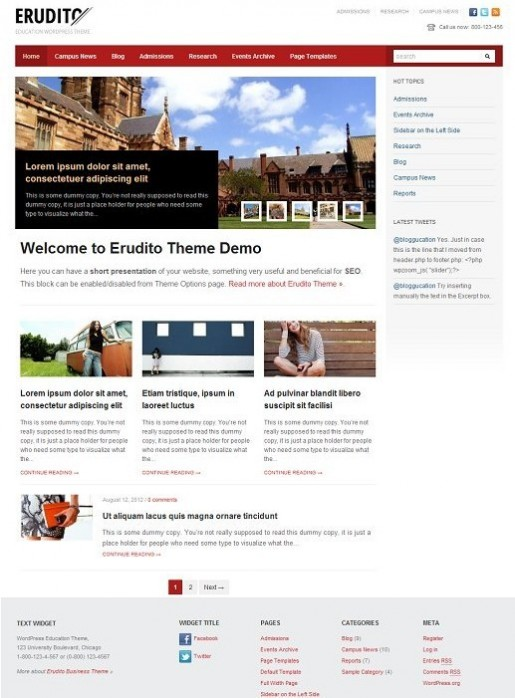WPZOOM Erudito WordPress Theme
