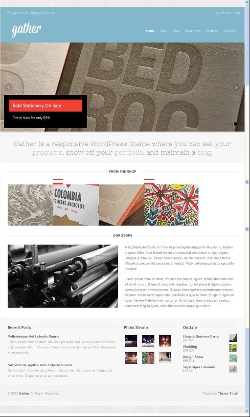 ThemeTrust Gather Responsive E-commerce WordPress Theme