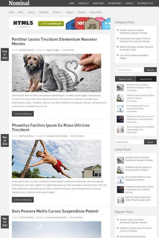 Nominal Beautiful Blog WordPress Theme From MyThemeShop