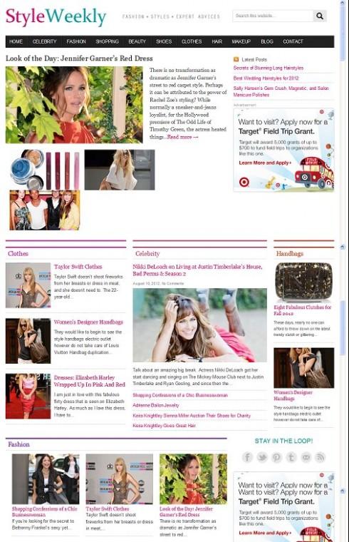 Clover Themes StyleWeekly WordPress Fashion Magazine Theme
