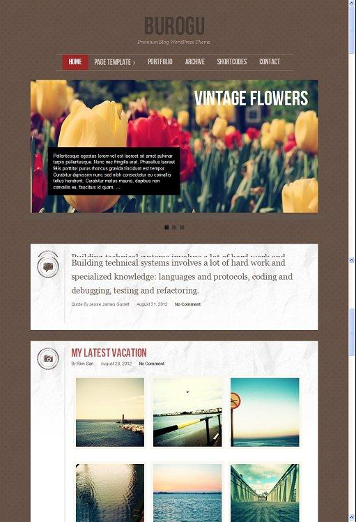 Colorlabs Burogu Premium Responsive Tumblr Style WordPress Theme