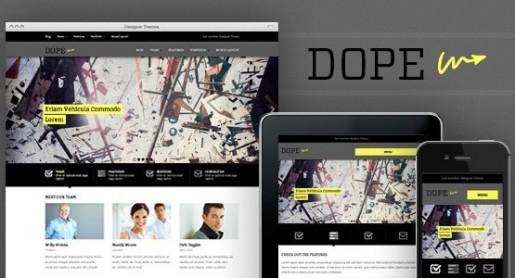 Dope Responsive WordPress Portfolio Theme By Designer Themes