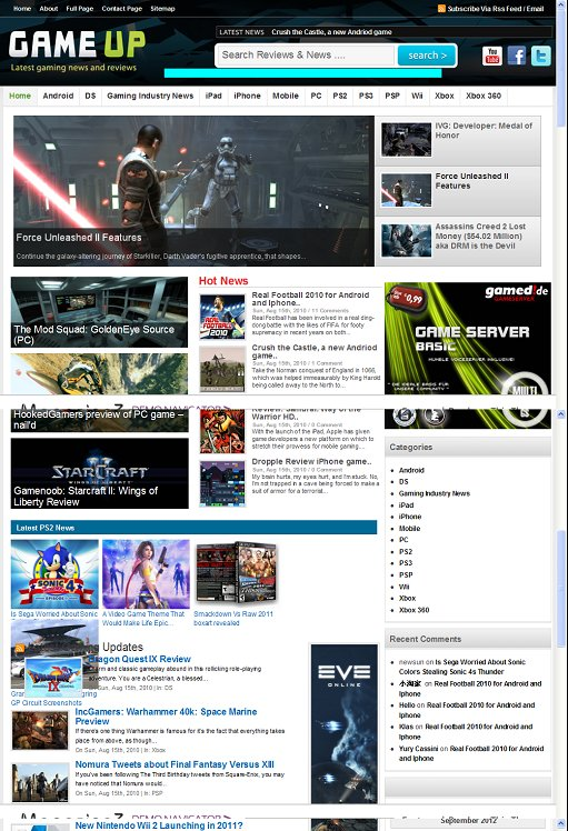 Magazine3 GameUp WordPress Gaming Magazine Theme