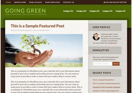 Going Green 2.0 Responsive WordPress Theme From StudioPress