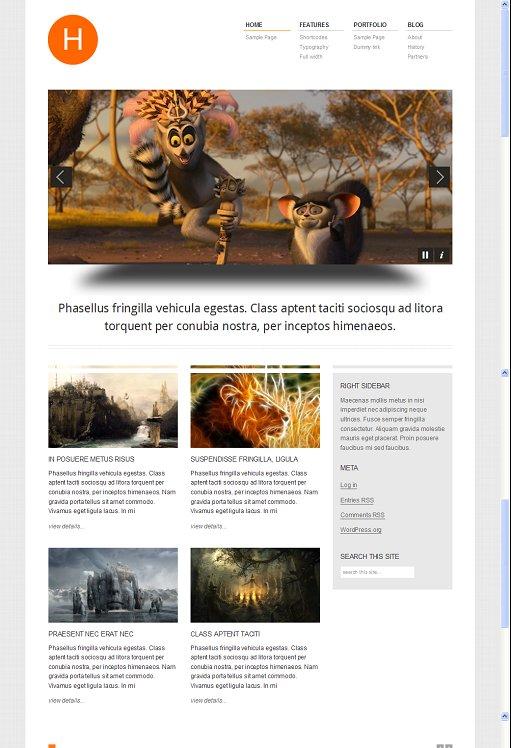 Viva Themes Hydrogen WordPress Theme For Business, Portfolio