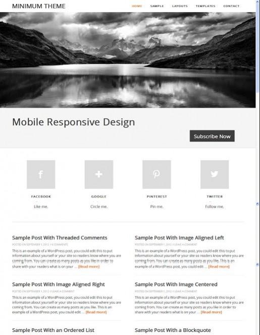 Minimum v2.0 Child Responsive WordPress Theme From StudioPress