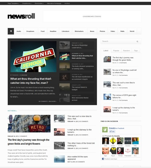 Newsroll Premium Responsive Magazine WordPress Theme By Themnific