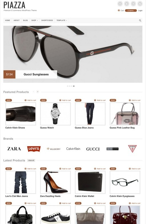 Colorlabs Piazza Premium eCommerce WordPress Theme