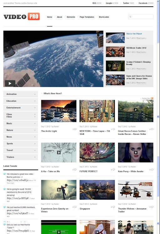 Theme Junkie VideoPro WordPress Theme For Video Magazine Sites