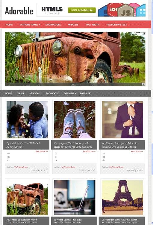 Adorable Responsive Grid WordPress Theme From MyThemeShop