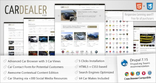 ThemeSnap Car Dealer Responsive Drupal 7 theme