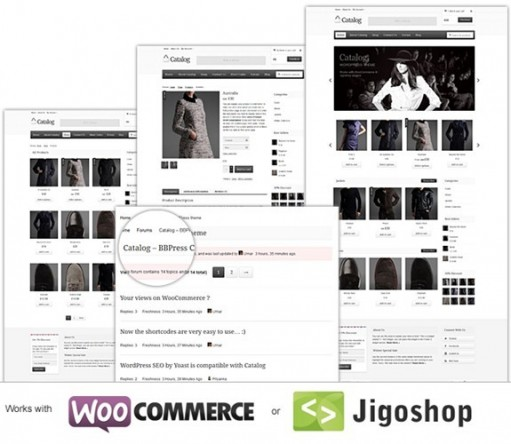 Catalog Templatic Responsive E-commerce Theme With WooCommerce/ Jigoshop