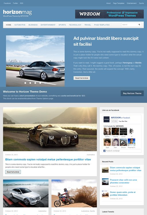WPZOOM Horizon Responsive Magazine Theme For WordPress