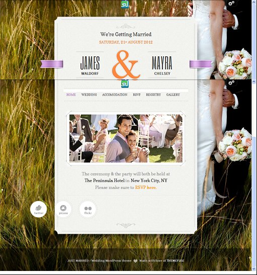ThemeFuse Just Married Responsive Wedding WordPress Theme