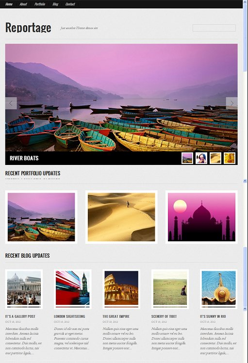 GraphPaperPress Reportage Photography Portfolio WordPress Theme