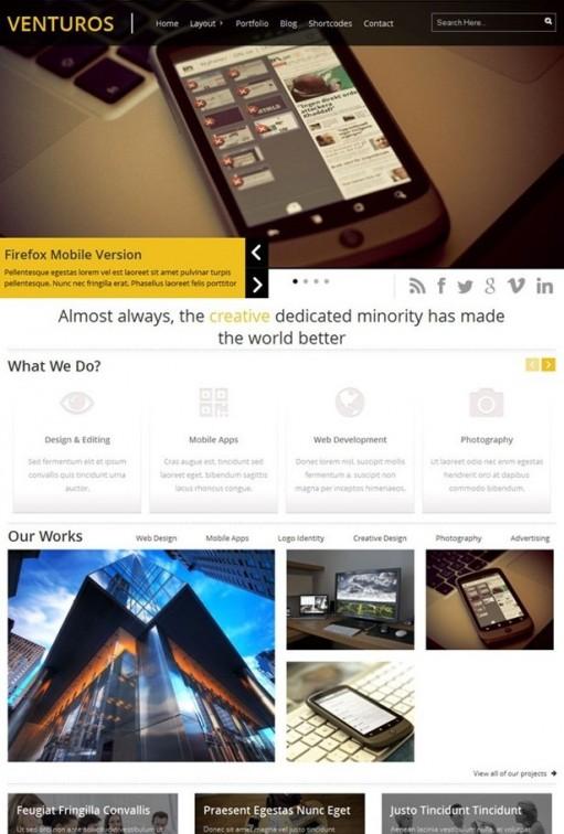 ColorLabs Venturos Stylish Business WordPress Theme
