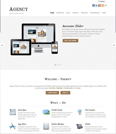 Themify Agency Responsive Corporate & Portfolio Theme for Design Agencies