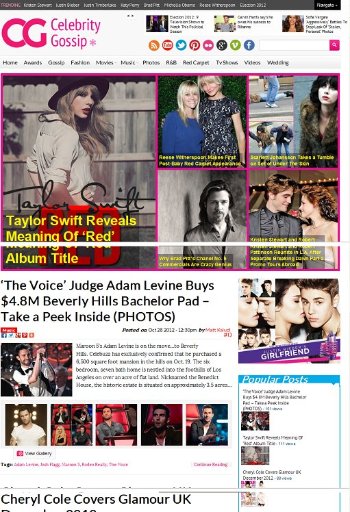 Magazine3 CelebrityGossip Responsive Entertainment WordPress Theme