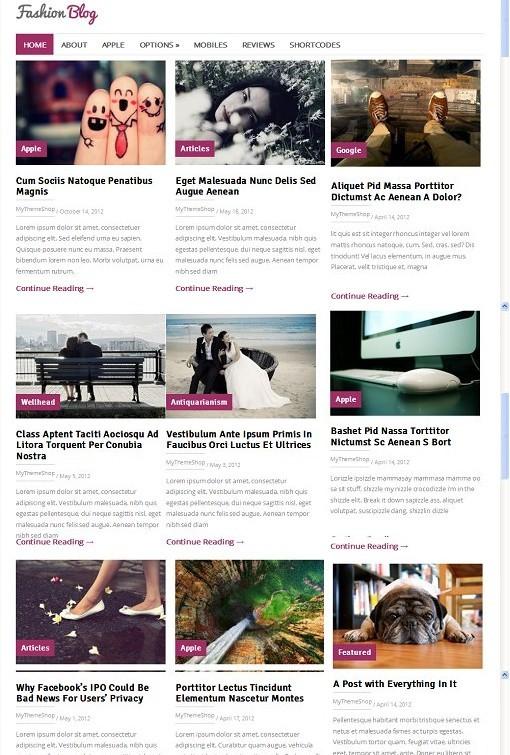 FashionBlog WordPress Fashion Magazine Theme From MyThemeShop