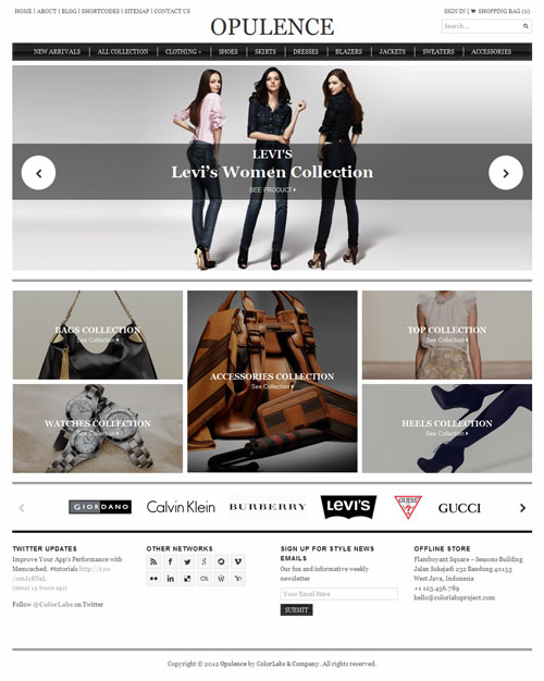 ColorLabs Opulence – High Fashion WordPress E-commerce Theme