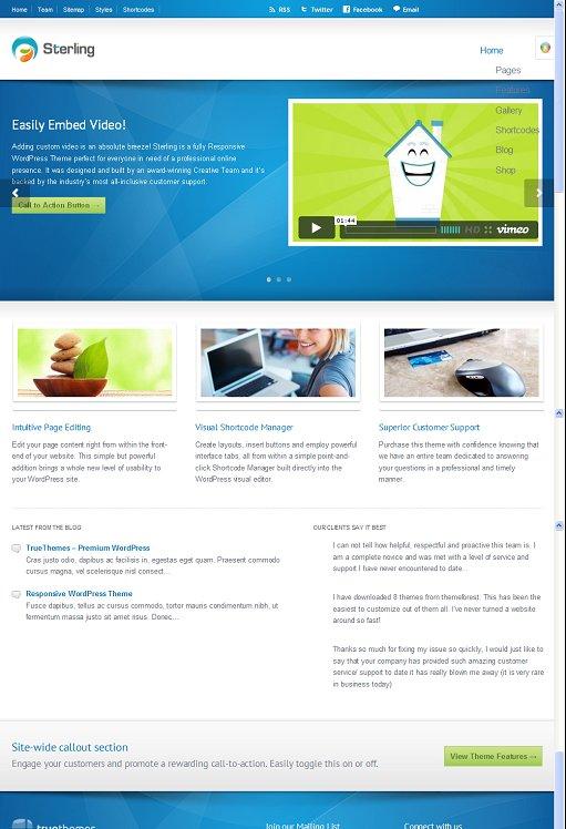 TrueThemes Sterling Responsive WordPress Theme