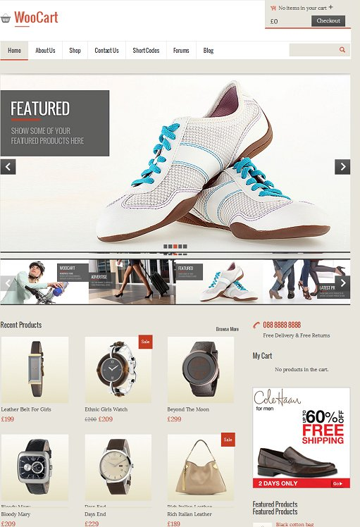 Templatic WooCart Responsive Ecommerce WordPress Theme