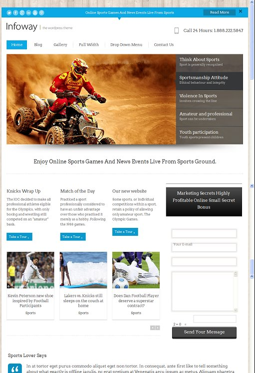 InkThemes Infoway Business WordPress Theme