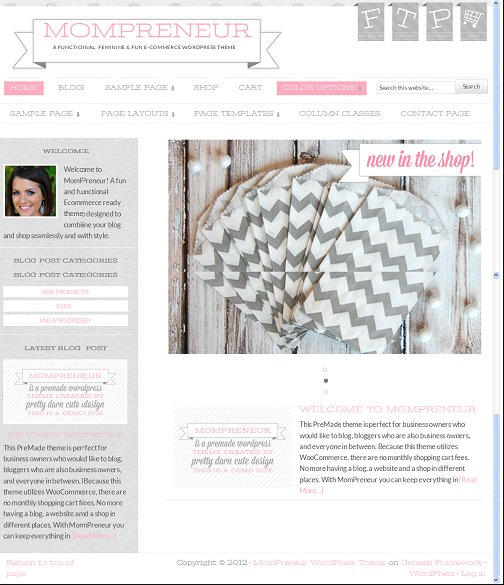 MomPreneur Feminine e-Commerce Genesis Child Theme : StudioPress