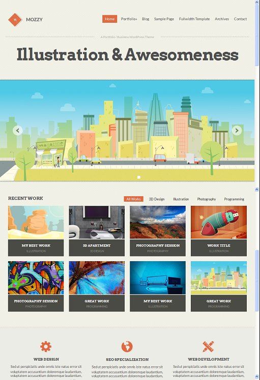 CSSIgniter Mozzy  WordPress Theme