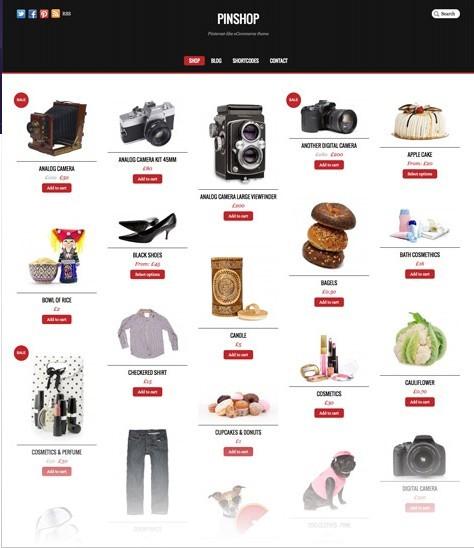 Themify Pinshop Pinterest-like eCommerce WordPress Theme