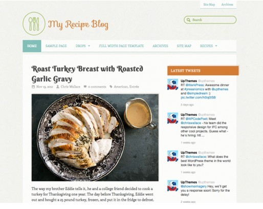 UPThemes Yumblog WordPress Theme For Food Blogger
