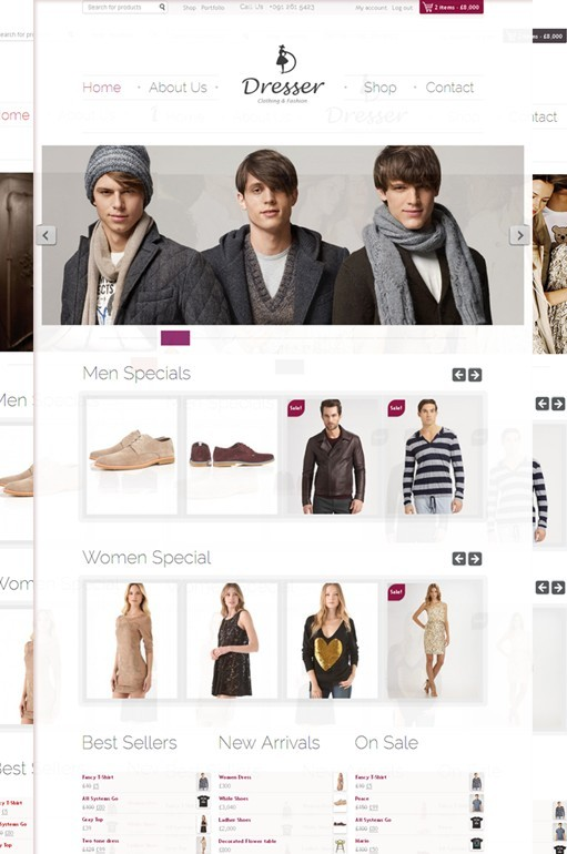 WPWebs Dresser WooCommerce Shopping Cart Theme For WordPress