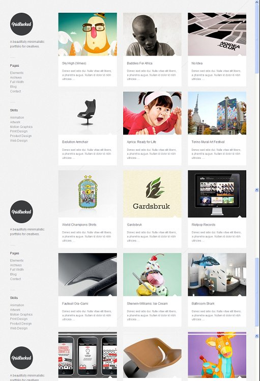 ThemeZilla Gridlocked Minimalistic WordPress Portfolio Theme