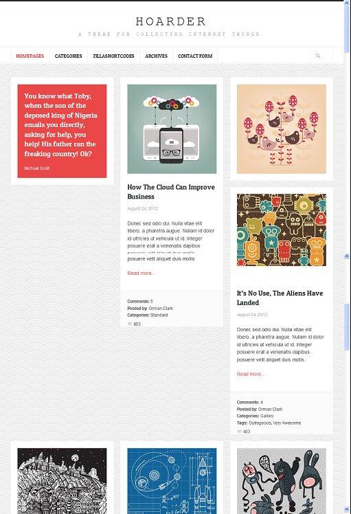 ThemeZilla Hoarder Responsive WordPress Blog Theme