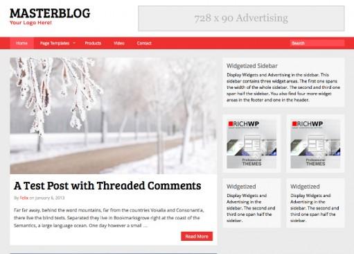 RichWP MasterBlog Responsive & Adaptive WordPress Blogging Theme