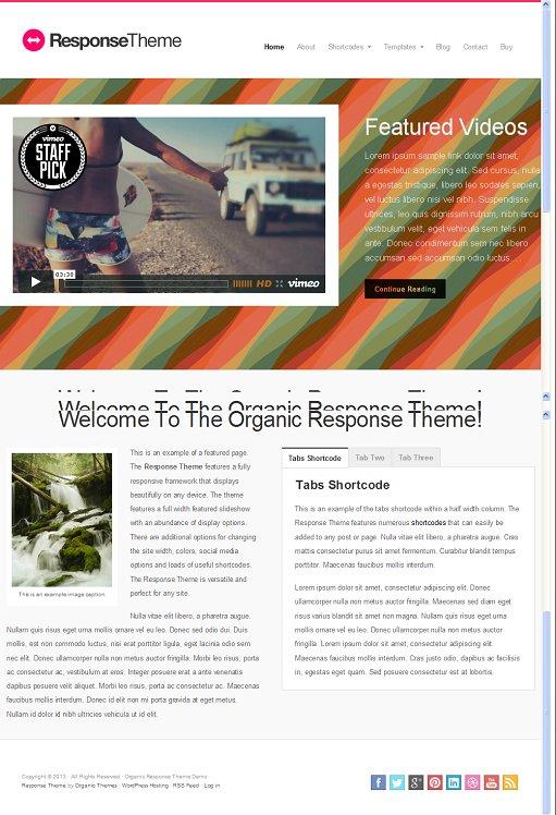 Organic Responsive theme