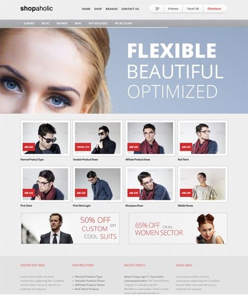 Shopaholic WordPress ECommerce Store Theme