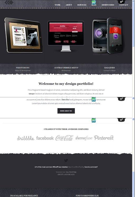 ThemeFuse PixelWhiz WordPress Portfolio Theme For Designer