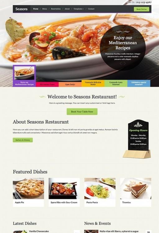 WPZOOM Seasons Responsive WordPress Food Theme