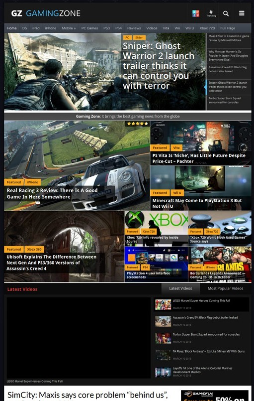 Magazine3 GamingZone Responsive WordPress Gaming Portals Theme