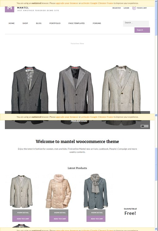 Tokokoo Mantel WordPress Theme For Online Apparel/Clothing Shop