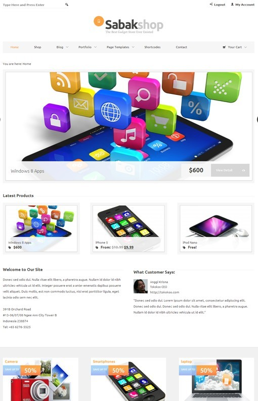 Tokokoo Sabak ECommerce WordPress Theme