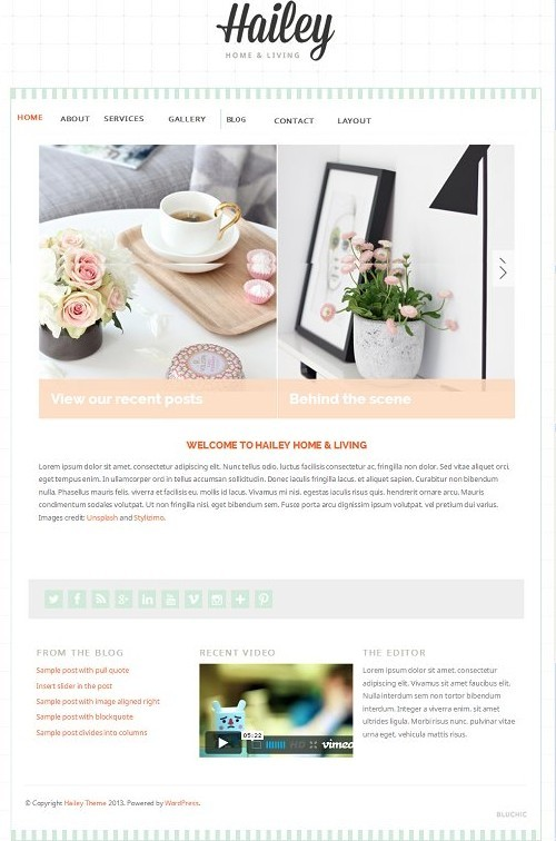 Hailey WordPress Feminine Theme Review - BluChic