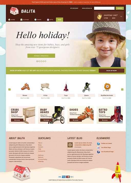 Balita WordPress Kids Shop Theme